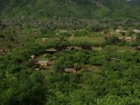 Eva Demaya Centrum na de regentijd gezien vanaf de berg